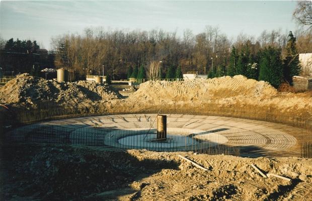 Depuratore lago di Varese - Terza Linea - Vasca in cemento armato